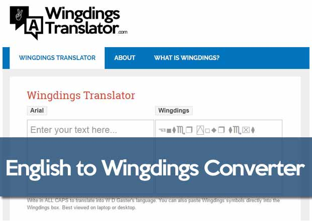 English To Wingdings Converter  Wingdings Translator Online