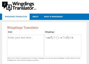 English to Wingdings Converter Online
