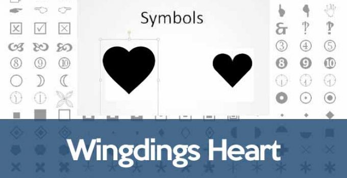 Wingdings heart