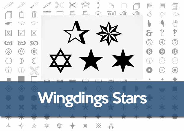 Wingdings Star Symbol How To Make A Star In Windows