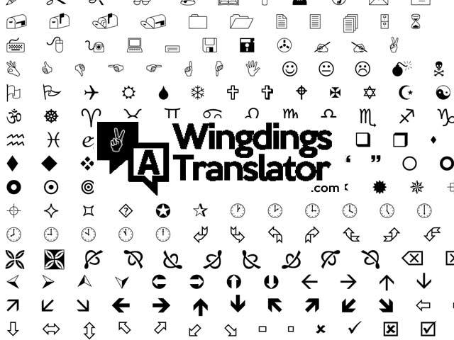 Wingdings Translator Online - Free Wingdings Converter Tool
