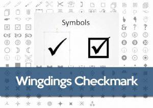 Wingdings Tick