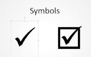 Wingdings Tick or Checkmark