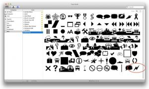 Wingdings for Mac
