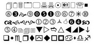 Wingdings symbols