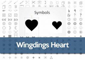 Wingdings heart