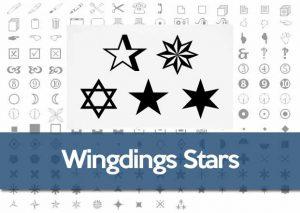 Wingdings star symbol
