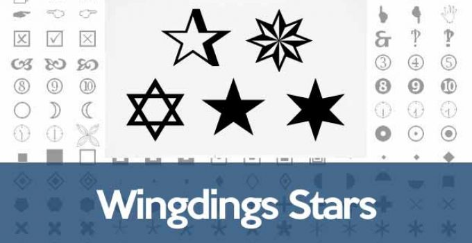 Wingdings star symbol