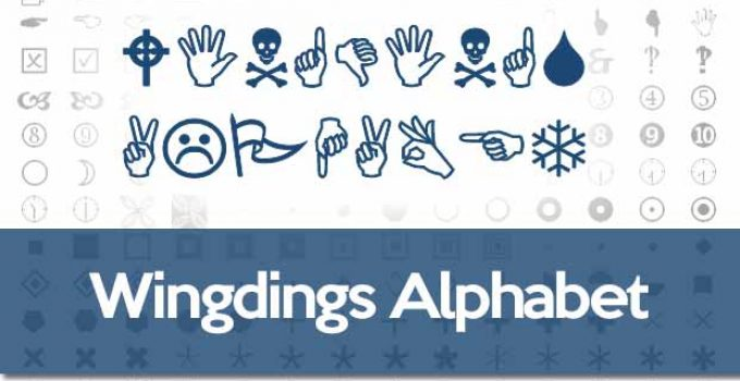 wingdings alphabet